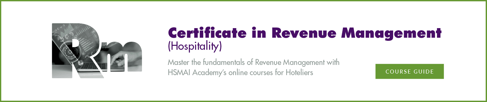 Certificate in Revenue Management (Hospitality)